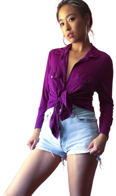 Preload https://img-static.tradesy.com/item/23645757/james-perse-grape-blouse-button-down-top-size-6-s-0-1-650-650.jpg