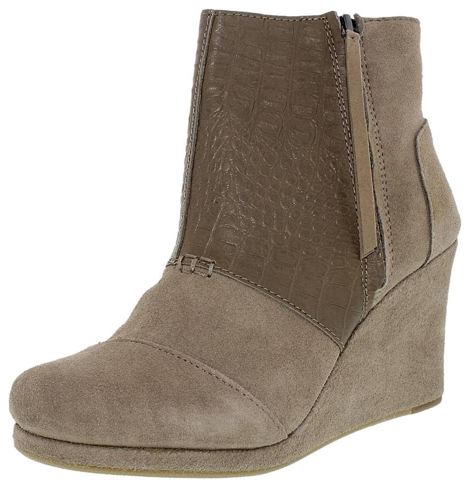 b5324980149 TOMS Taupe Desert Wedge Boots Booties Size US 6 Regular (M