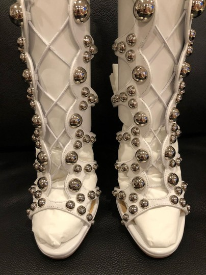 Christian Louboutin Stiletto Classic Amazoubille Studded Gladiator white Pumps Image 7