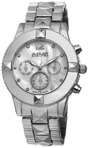 August Steiner August Steiner Women's Silver Tone Mother-of-Pearl Watch AS8107SS