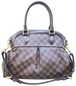 Louis Vuitton Lv Trevi Damier Ebene Canvas Satchel in brown