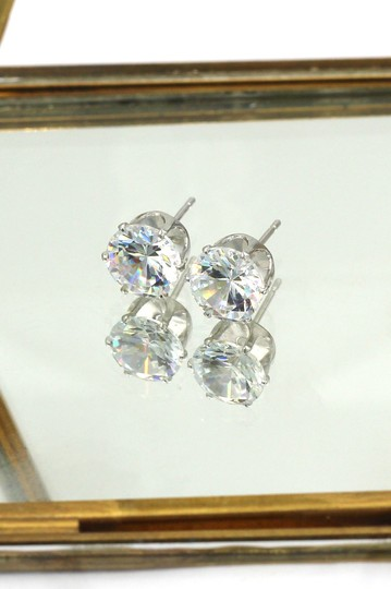 Ocean Fashion Small single crystal silver necklace earrings set Image 3