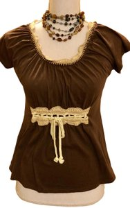Anthropologie Cotton Soft Size 4 T Shirt chocolate brown