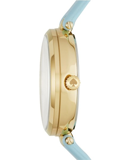 Kate Spade Clearance-SALE gold-tone and light blue leather holland watch Image 2