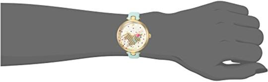 Kate Spade Clearance-SALE gold-tone and light blue leather holland watch Image 3