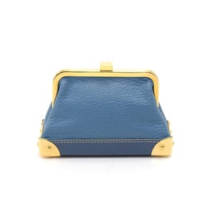 Louis Vuitton Louis Vuitton Porte-Monnaie Viennois Blue Suhali Leather Coin Purse