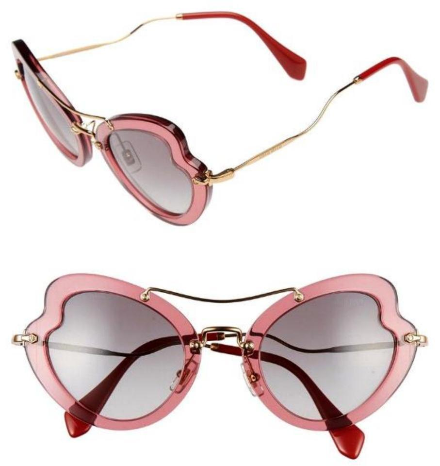 a3006904ba Miu Miu Bordeaux Butterfly Scenique Collection Sunglasses - Tradesy