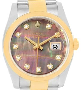 Rolex Rolex Datejust 36 Steel Yellow Gold MOP Diamond Dial Mens Watch 116203