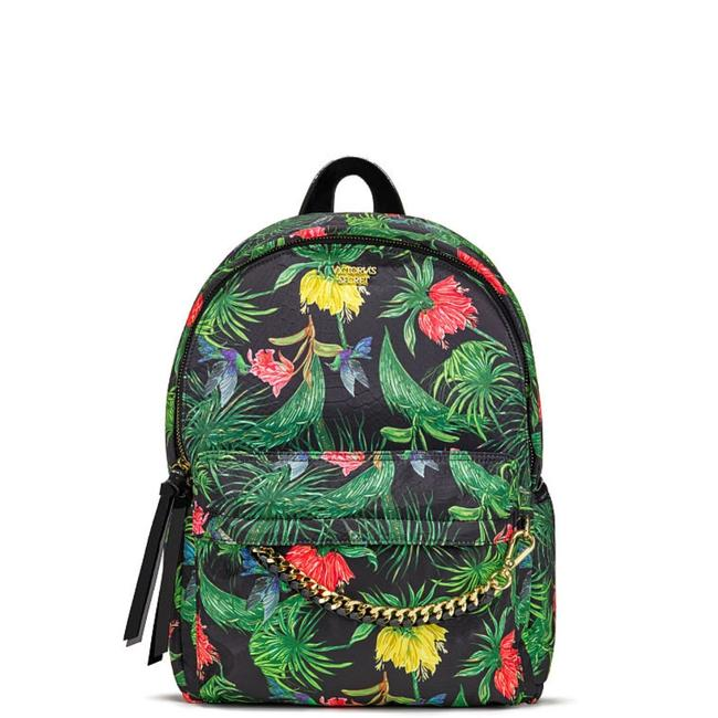 Item - New Tropic City Black/Green Polyester Backpack