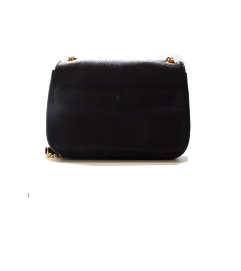 19b5d1455a4b Michael Kors Sloan Small Grain Black Leather Shoulder Bag - Tradesy