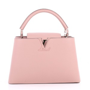 Louis Vuitton Capucines Leather Satchel in Pink