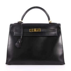 Hermès Calf Kelly Tote in Black