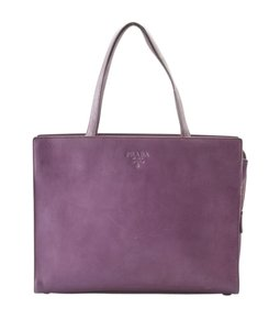 Prada Leather Tote in Purple