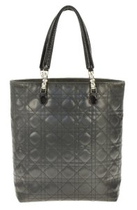 Dior Xleather Christian Tote in Grey