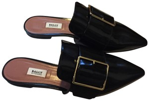 Bally Black Mules