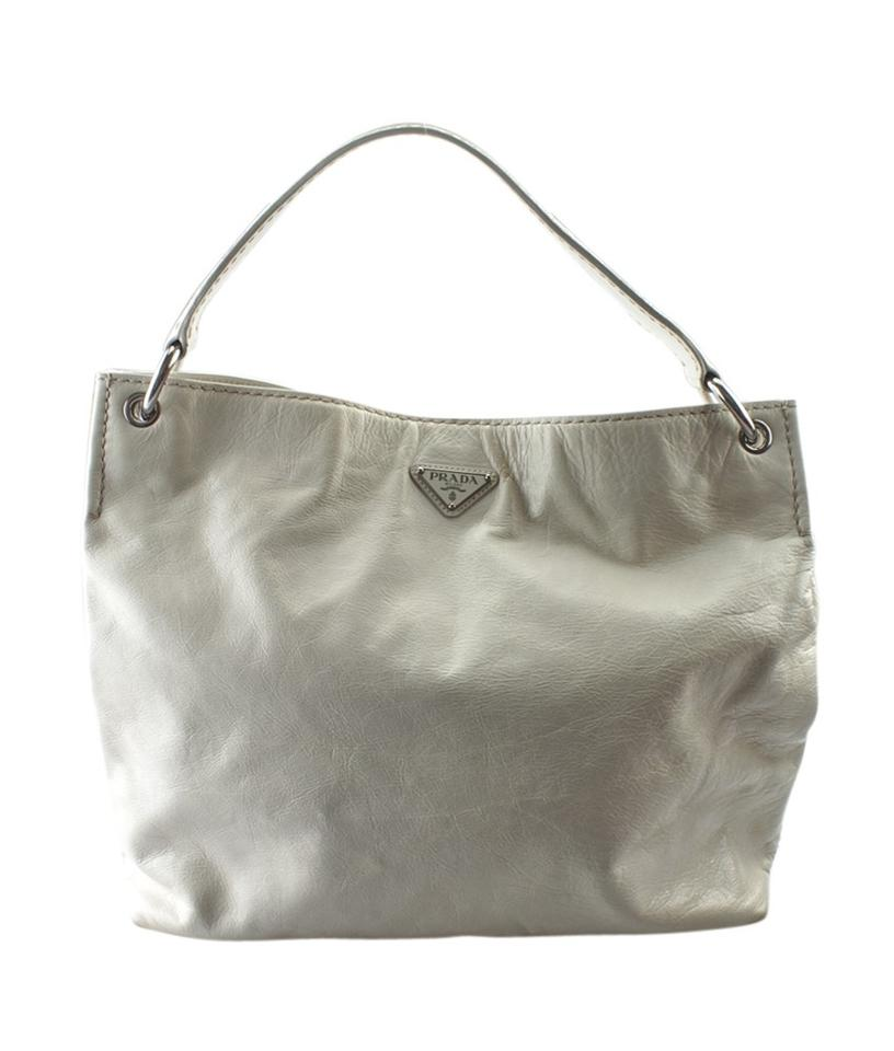 152138 Bag White Hobo Leather Prada vWd1ZAv