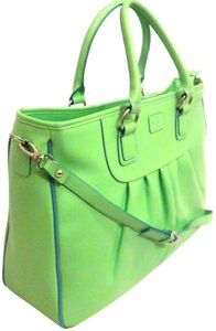 Baekgaard Satchel Zip Large Vera Bradley Work Apple Blue Tote in Green