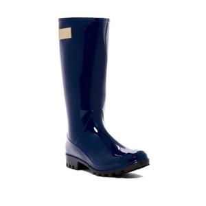 Nicole Miller Rain Size 10 With Tags Navy Boots