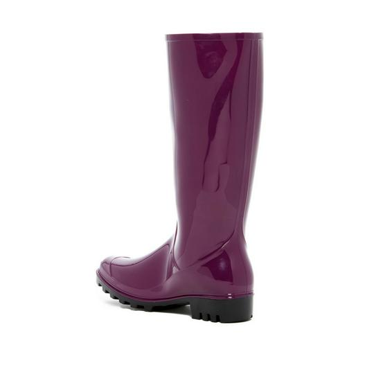 Nicole Miller Rain Size 10 With Tags dark plum Boots Image 2