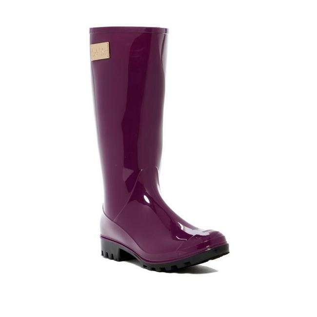 Nicole Miller Dark Plum Rainy Day Rain Boots/Booties Size US 9 Regular (M, B) Nicole Miller Dark Plum Rainy Day Rain Boots/Booties Size US 9 Regular (M, B) Image 1