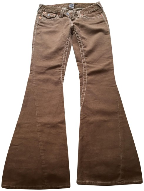Item - Tan Light Wash Flare Leg Jeans Size 27 (4, S)