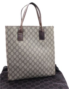 Gucci Shopping Logo Monogram Gg Tote in Brown