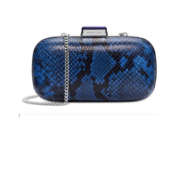 Item - Elsie Dome Electric Blue Leather Clutch
