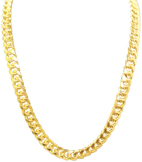 Preload https://img-static.tradesy.com/item/23647206/yellow-gold-10k-miami-cuban-link-chain-for-men-necklace-0-1-540-540.jpg