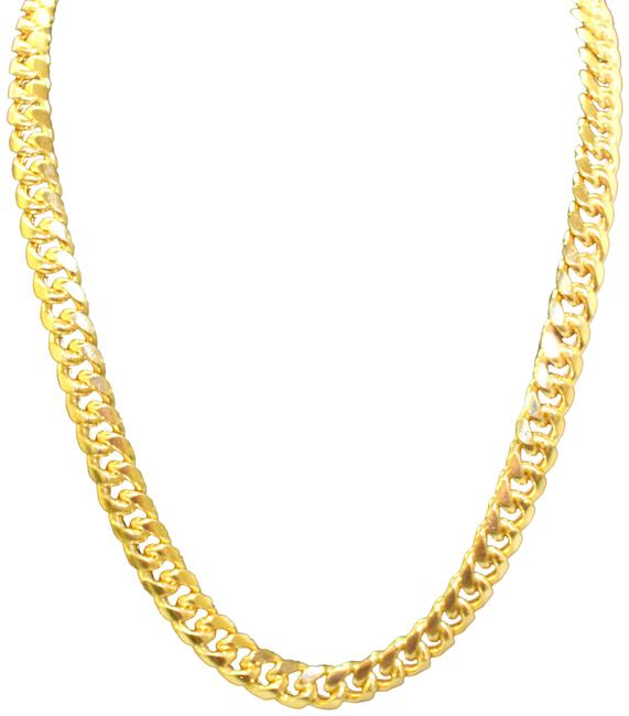 Yellow Gold 10k Miami Cuban Link Chain For Men Necklace Yellow Gold 10k Miami Cuban Link Chain For Men Necklace Image 1