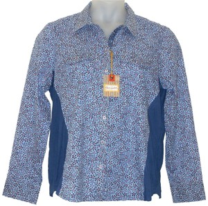 Robert Graham Floral Cotton Button Down Shirt Blue