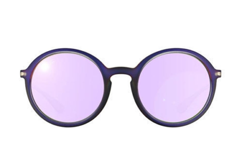 79b3eece0a Ray-Ban Shot Violet Rubber Grey Metal   Plastic Frame with Violet ...