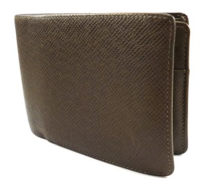 Louis Vuitton Brown Tagia Leather Wallet Bifold Men's Jewelry/Accessory