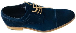 Stacy Adams Oxford Mens Suede-oxford Navy Blue Flats