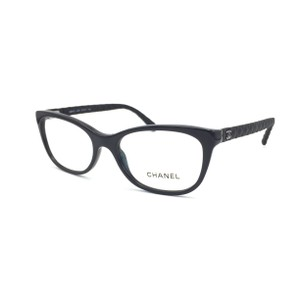 Chanel Black Quilted Cat Eye Rx Eyeglasses Frame 3288 501