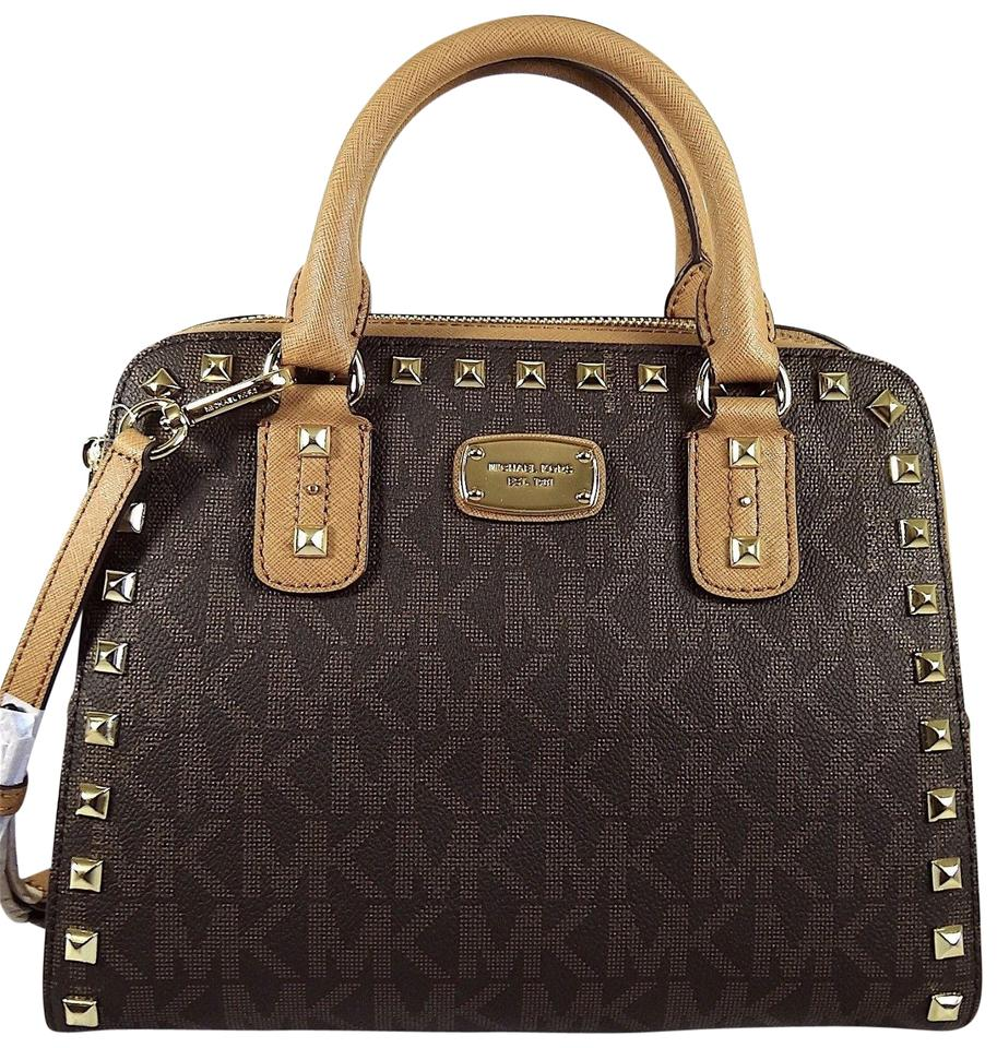 281799f762a1 Michael Kors Sandrine Leather Handbag Satchel in Brown Acorn Image 0 ...