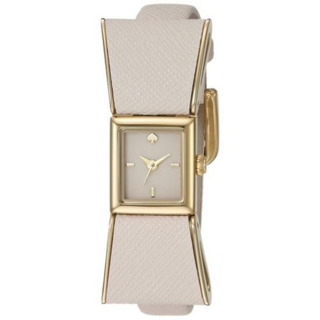 Kate Spade Silver Kenmare Neutral Bow Strap Watch Kate Spade Silver Kenmare Neutral Bow Strap Watch Image 1