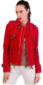Dsquared2 Red Leather Jacket