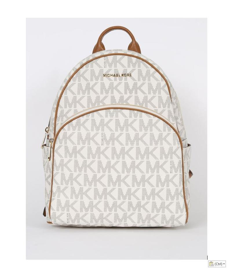 3a116e0df9ef Michael Kors Abbey Jet Set Large Vanilla Leather Backpack - Tradesy