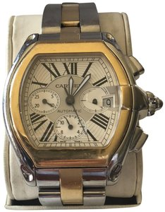 Cartier Cartier Chronograph Roadster XL Dual Tone Gold and Silver