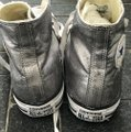 Converse Silver High Tops Sneakers Size US 10 Regular (M, B) Converse Silver High Tops Sneakers Size US 10 Regular (M, B) Image 2