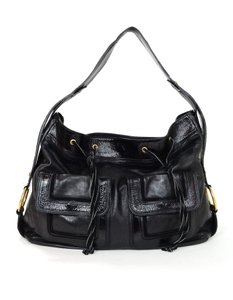 Saint Laurent Leather Shoulder Hobo Bag