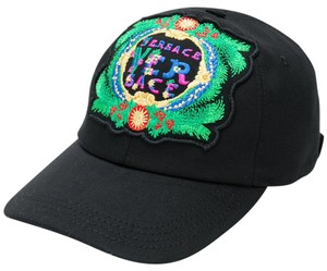 Versace BRAND NEW MEN'S VERSACE EMBROIDERED BLACK SIGNATURE BEVERLY PALM HAT