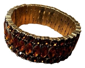 J.Crew J.Crew Brown Crystal Rhinestone Stretch Bracelet