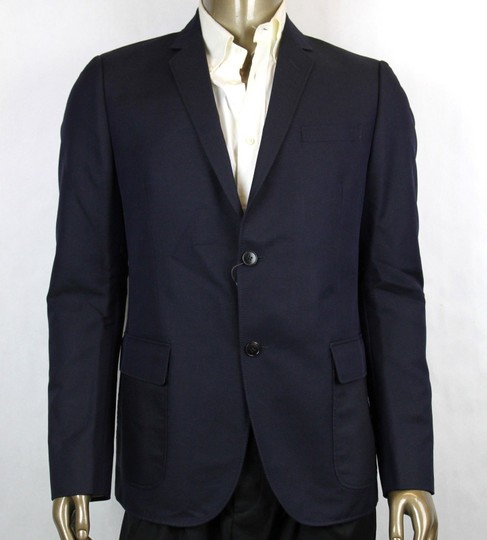 Preload https://img-static.tradesy.com/item/23648429/gucci-blue-dylan-60-selvage-jacket-2-button-it-52rus-42r-295439-4440-groomsman-gift-0-0-540-540.jpg