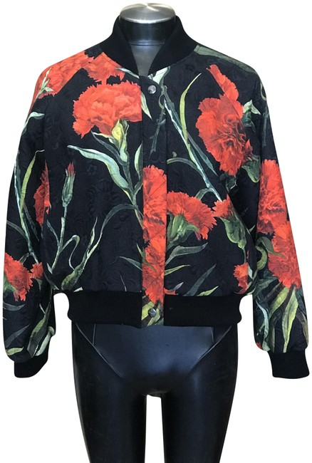 Item - Multicolor Dolce and Gabbana Rose Bomber Jacket Size 8 (M)