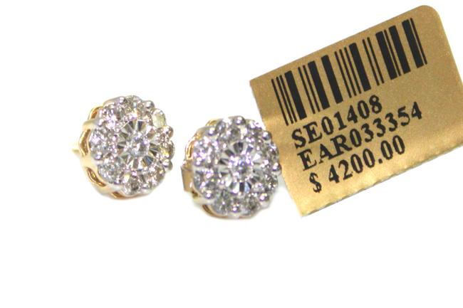 Diamond 10kt. Yellow Gold Screw Back Post Earrings Diamond 10kt. Yellow Gold Screw Back Post Earrings Image 1