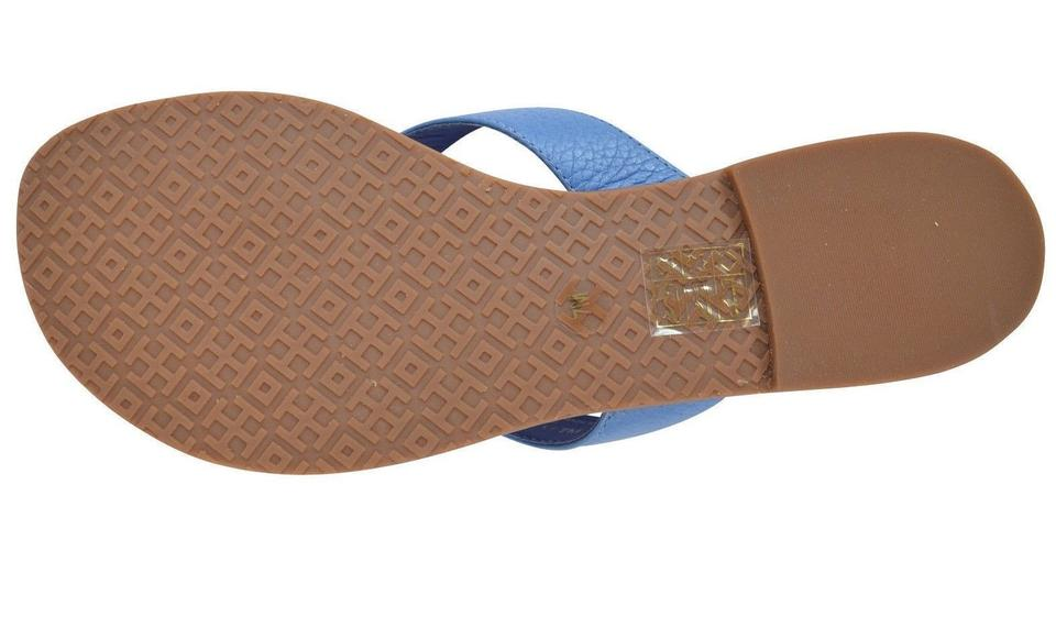 1fca04e8f8a Tory Burch Brown New Womens Thora Thong Flat Tumbled Leather ...
