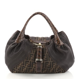 Fendi Tortoise Leather Hobo Bag