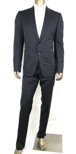 Gucci Dark Blue Wool Signoria Suit Guccissima Lining 2 Button 56r/Us 46r 221536 4140 Groomsman Gift