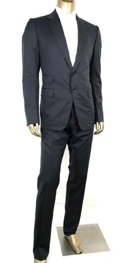 Gucci Dark Blue Wool Signoria Suit Guccissima Lining 2 Button 56r/Us 46r 221536 4140 Groomsman Gift Image 1